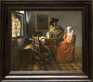 Vermeer stary obraz odnowienie ramy