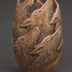 Niewiarygodne wazy z drewna Rona Layporta